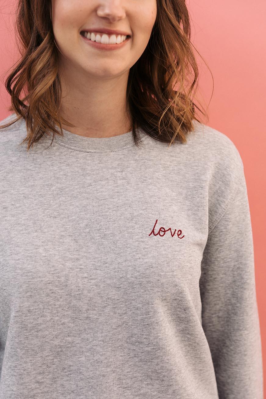 sweatshirt personnalisé femme