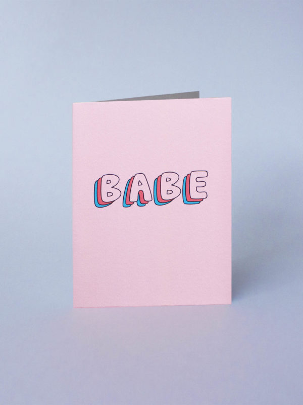 carte de voeux babe cute jonesie