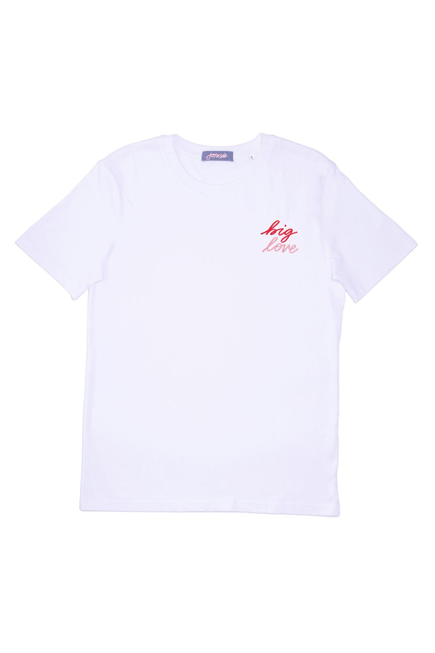 t-shirt brodé big love