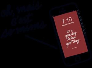 mobile fond d'écran