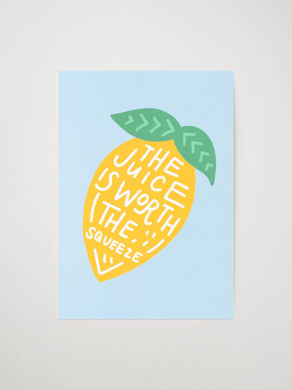 Poster lemon juice